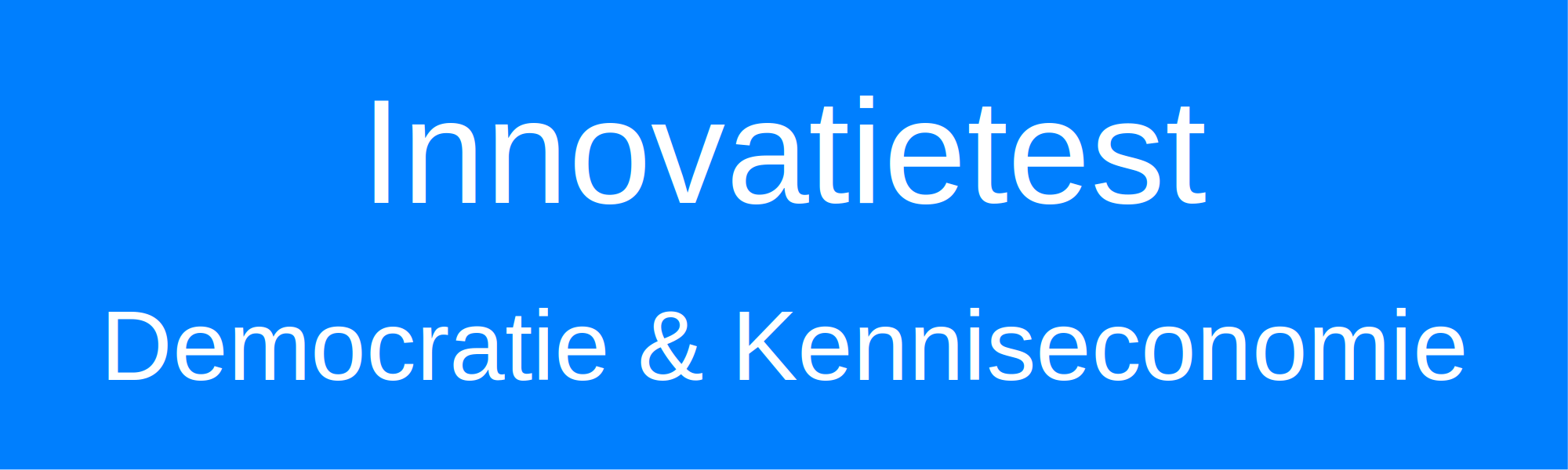 innovatietest democratie kenniseconomie